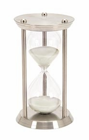 Metal/Glass 60 Minutes Hourglass For Hour Measurement - 58157 by Benzara