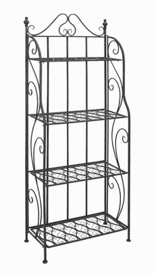 Bakers Rack With Classic Design In Black Matte Finish - 63376 by Benzara