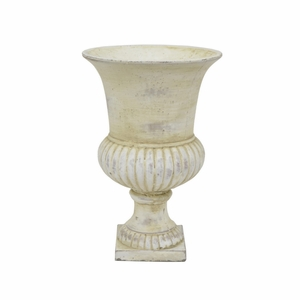 67489 Cement Footed Urn by Three Hands Corp