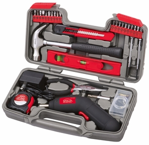 Apollo Tools 69 Piece Household Tool Kit with 4.8V Cordless Screwdriver