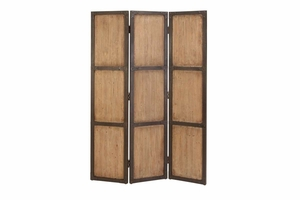 WOOD SCREEN 48 INCHES WIDE FORDecorATIVE PROTECTION - 69157 by Benzara