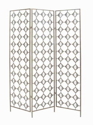Metal Mirror Screen with Simple Dazzling Effect - 50211 by Benzara