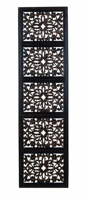 32661 Ebony Black Hand Carved Wood Walldecor Sculpture - 32661 by Benzara