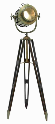 Tripod Spot Light Metallic Finish with Gold Glaze - 46682 by Benzara