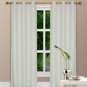 """84"""" Ivory Grommet Top Thermal Curtain w/ Blackout Drape & Polyester Fabric by Maifa"""