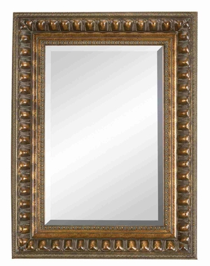 "88497 Wood Bevel Mirror 48""H, 36""W- Wall Decor With Classic Look  by Benzara"