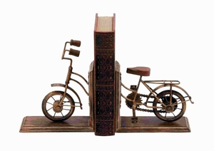 Bookend Sporting A Cycle Shaped Design - 26778 by Benzara