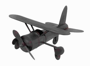 Plane In Rich Chocolate Color Finish With Easy Mobility - 54422 by Benzara