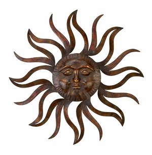 METAL SUN WALL DECOR FEEL EVERY MORNING MORE FRESH - 97918 by Benzara