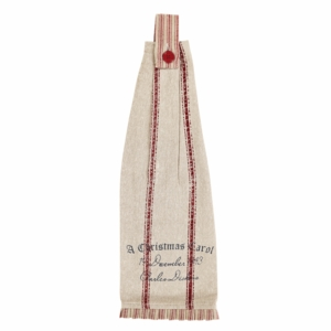 A Christmas Carol Button Loop Kitchen Towel Set of 2 - 26588 by VHC Brands
