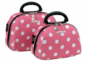 A02-PINK DOT 2 Pc. Cosmetic Set