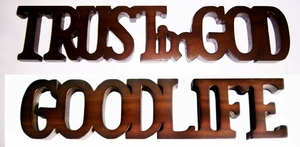Aachen Trust in God Good Life, Imperial Finish Decorative Plate by D-Art