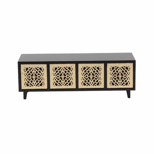 Abigail Wood Jewelry Chest,Golden And Brown - 82186 by Benzara