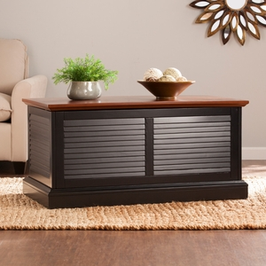 Abram Louvered Trunk Cocktail Table