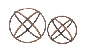 Adorable And Uniquely Designed Aluminum Orb Set of 2 - 45681 by Benzara