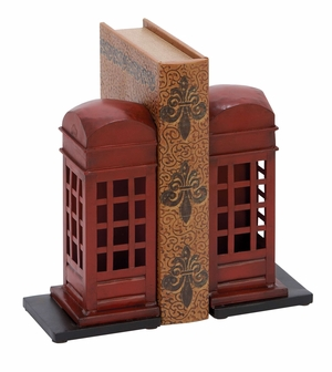 Library Metal Bookend Pair - 55856 by Benzara