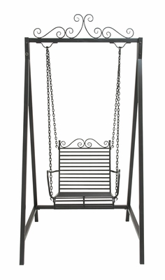 Adorable Metal Swing Chair by Benzara