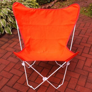 Adorable Orange Fabric Foldable Butterfly Chair by Algoma