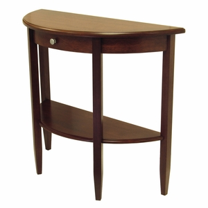 Adorable Piece of Half Moon Console Table by Winsome Woods