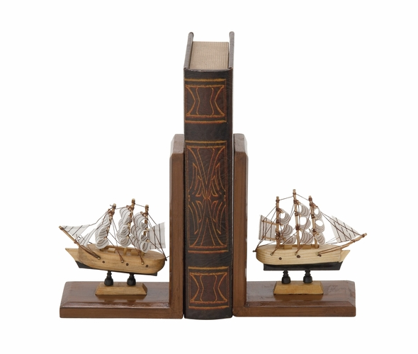 Buy Adorable Wood Ship Bookend Pair 5 W 7 H At