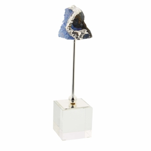 Agate Blue Geode With Crystal Base - 35765 by Benzara