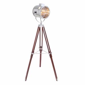 Ahoy Floor Lamp Chrome/Cherry by Lumisource