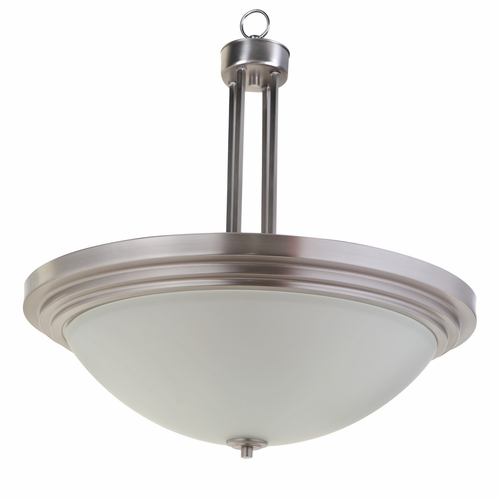Yosemite Home Decor 4203 3sn Aldridge Collection Fashionable Piece Of 3 Lights Pendant Satin