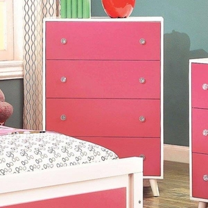 Alivia Roomy Leisurely Chest, Contemporary Style, White And Pink
