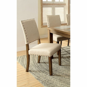 Allison 2 PC Nail Head Trim Upholstered Side Chair