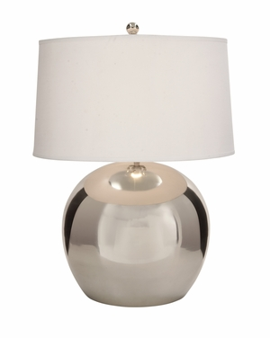 Alluring Metal Chrome Table Lamp - 23570 by Benzara