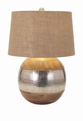 Alluring Nessa Wood and Metal Clad Lamp