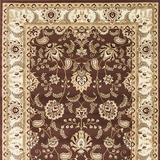 Altay Contemporary Styke Area Rug, Chocolate