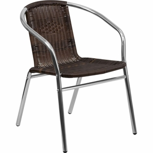 FLH-TLH-020-GG  Aluminum And Rattan Chair , Brown