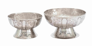 Aluminum Bowl With Simple And Elegant Design (Set Of 2) - 27461 by Benzara