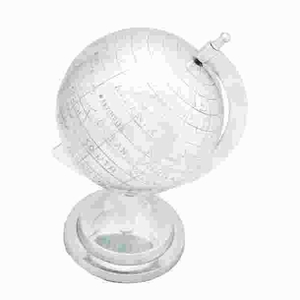 Globe In Silver Finish With Intricate Detail Work - 26993 by Benzara