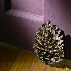 Aluminum Doorstop Featuring Realistic Pinecone Figurine by SPI-HOME