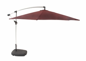 "Aluminum Fabric Umbrella 128""W 94""H - 77316 by Benzara"