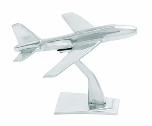 Aluminum Plane With Intricate Detailing And Rich Metallic Glaze - 30888 by Benzara