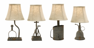 IMAX Amazing Mayberry Utensil Mini Lamps (Set of 4)