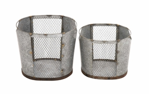 Amazing Styled Attractive Metal Wire Basket - 49159 by Benzara