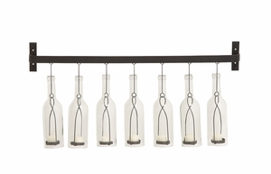 Amazing Styled Metal Glass Wall Votive Holder - 55545 by Benzara