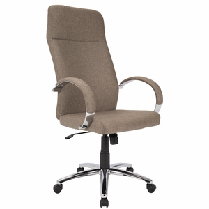 Ambassador Contemporary Office Chair in Brown Fabric by LumiSource