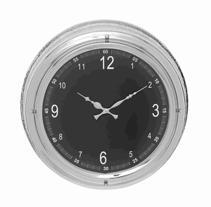 Clean And Classic Metal Wall Clock With Circular Design - 27864 by Benzara