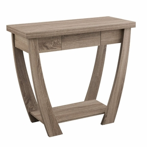 Amire Light Oak Curved Leg Contemporary Sofa Table