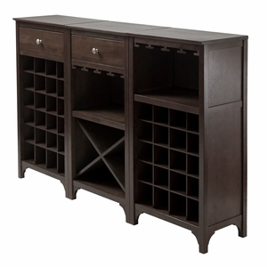 Ancona 3-Pc Modular Wine Cabinet  Set - 92367 by Winsome Wood