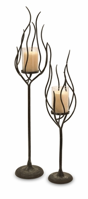 IMAX Anemone Candle Holder (Set of 2)