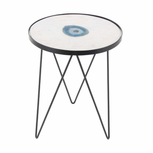 Angelic Marble Agate Accent Table - 42224 by Benzara