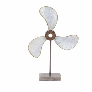 Antiquated Metal Fan Decor - 47953 by Benzara