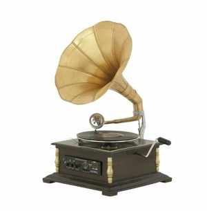 Antique And Classy Metal Wood Gramophone