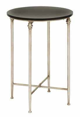 Old Lookd Look End Table With Modern Marble - 53880 by Benzara